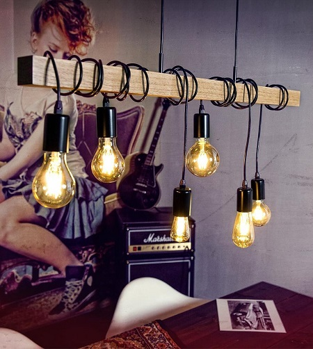 EGLO Townshend Hanglamp – 6 Lichts
